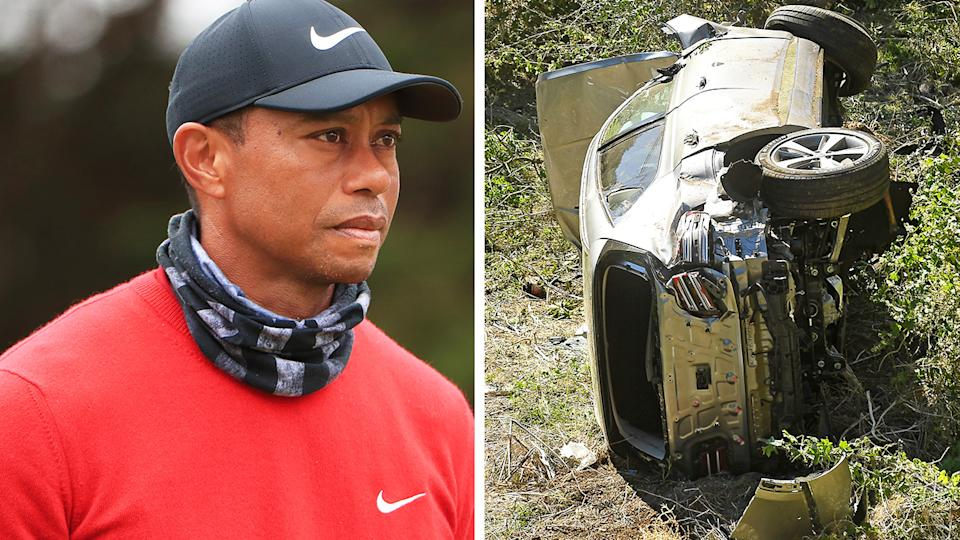 Tiger Woods had no memory of his recent car accident in the moments after waking up behind the wheel of his wrecked SUV. Pictures: Getty Images