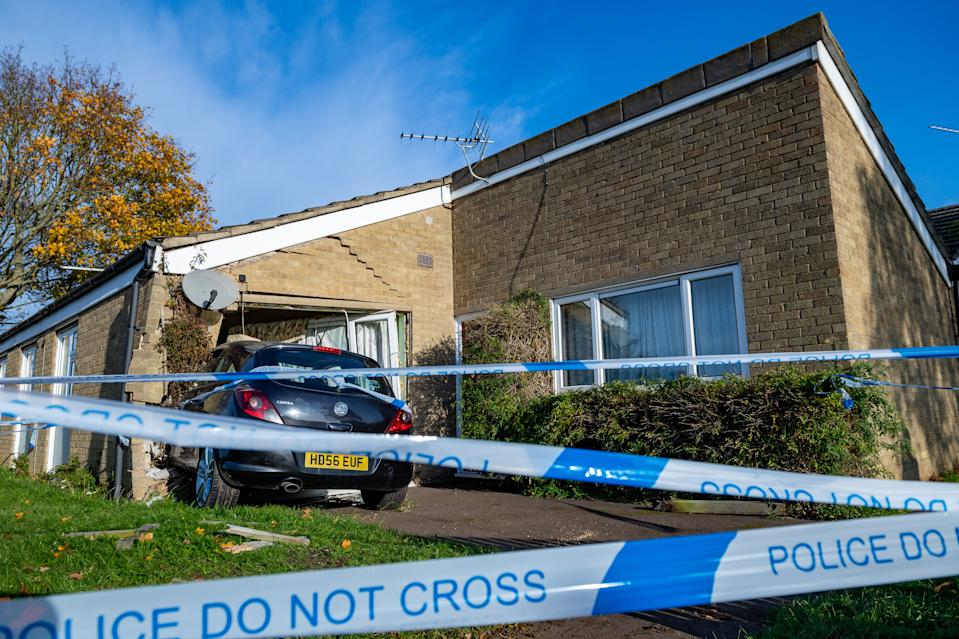 The crash caused severe damage to Mr Miller's house. (SWNS)