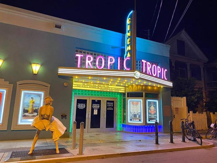 The Tropic Cinema on Eaton Street right off Duval, was empty on March 22, 2020.