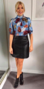 """<p>Who doesn't love winter florals? And Holly is forever championing them on 'This Morning'. Here, the presenter opted for a blouse by <a rel=""""nofollow noopener"""" href=""""http://www.very.co.uk/v-by-very-split-back-floral-print-blouse/1600199584.prd?utm_campaign=content&awc=3090_1509631992_7d28ae686c183e3129d616c00b01e308&aff=awin&affsrc=222025&cm_mmc=awin-_-222025-_-Editorial+Content-_-0_0&utm_source=awin&utm_medium=affiliate&utm_term=http%3A%2F%2Fwww%2Estandard%2Eco%2Euk%2F_222025&utm_content=na"""" target=""""_blank"""" data-ylk=""""slk:Very"""" class=""""link rapid-noclick-resp"""">Very</a> finished with a <a rel=""""nofollow noopener"""" href=""""http://www.jigsaw-online.com/product/mini-leather-skirt/J33974_BK000?utm_source=Affiliate&utm_medium=RakutenAffiliateNetwork&utm_campaign=2116208&utm_content=10&utm_term=UKNetwork&ranMID=35664&ranEAID=TnL5HPStwNw&ranSiteID=TnL5HPStwNw-MJ6l_y4DH1gRCS2ODQ.I_Q&utm_campaign=2116208&affiliateID=2116208"""" target=""""_blank"""" data-ylk=""""slk:Jigsaw"""" class=""""link rapid-noclick-resp"""">Jigsaw</a> faux leather skirt. She finished the look with a pair of <a rel=""""nofollow noopener"""" href=""""https://uk.maje.com/en/collection/shoes/foxy/H17FOXY.html?dwvar_H17FOXY_color=0002&utm_source=Aw&awc=6879_1509632061_f1550b55b2195e08a2fa63ab4283ec82#start=17"""" target=""""_blank"""" data-ylk=""""slk:Maje"""" class=""""link rapid-noclick-resp"""">Maje</a> boots. </p>"""
