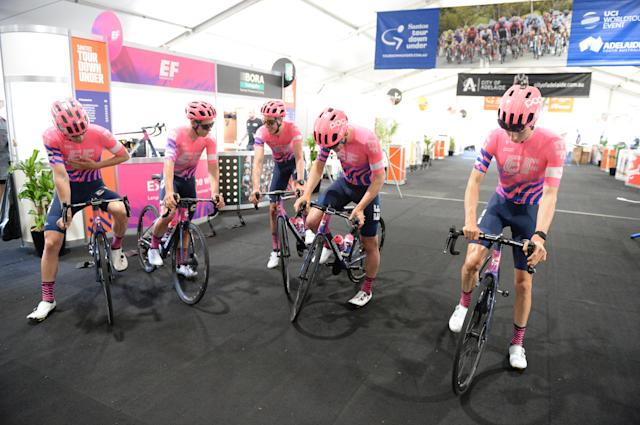 EF Education First move out for their course recon