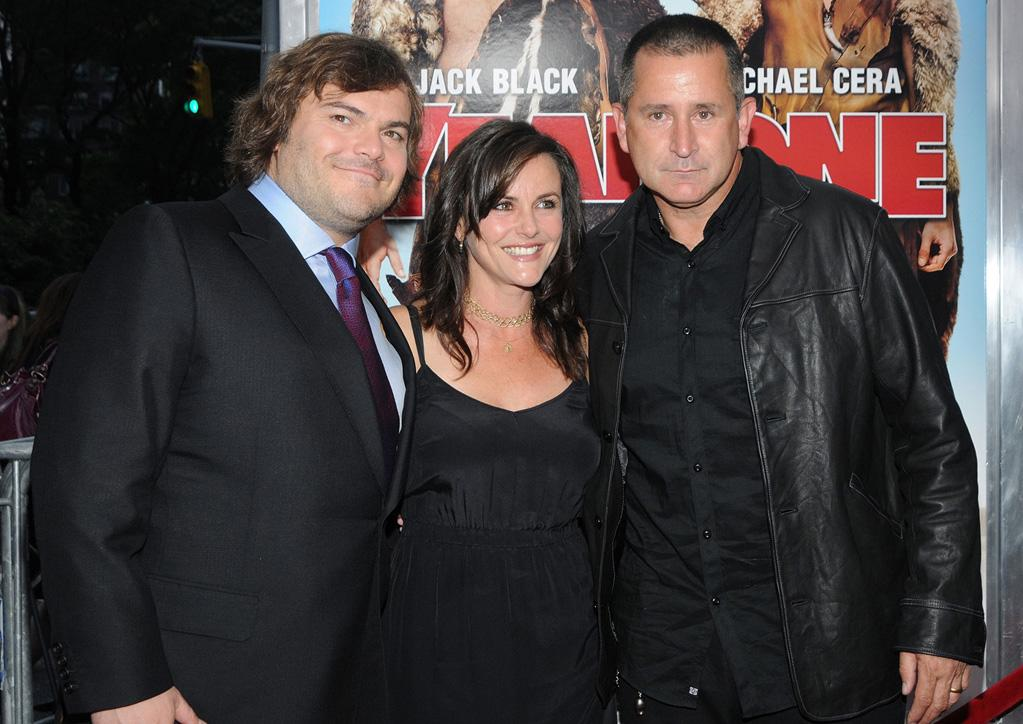 """<a href=""""http://movies.yahoo.com/movie/contributor/1800180457"""">Jack Black</a>, Gia Cardies and <a href=""""http://movies.yahoo.com/movie/contributor/1800023968"""">Anthony LaPaglia</a> at the New York premiere of <a href=""""http://movies.yahoo.com/movie/1809981033/info"""">Year One</a> - 06/15/2009"""