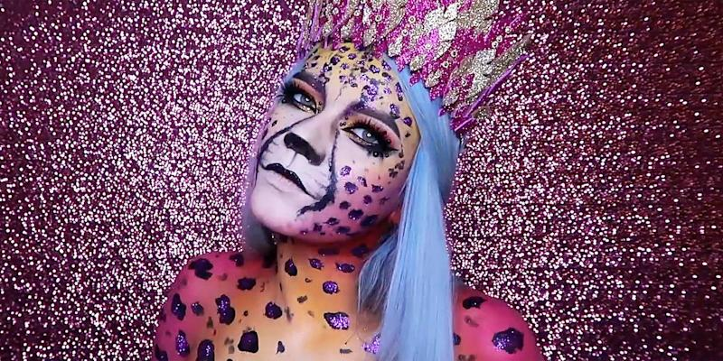 This Lisa Frank Inspired Cheetah Makeup Look Is The Ultimate ...