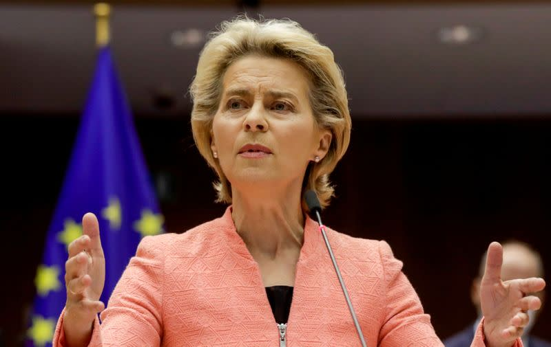 European Parliament plenary session State of the Union in Brussels