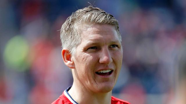 Bastian Schweinsteiger seemingly saw the amusing side after being asked to take a photo of Chicago Fire's squad in Toronto.