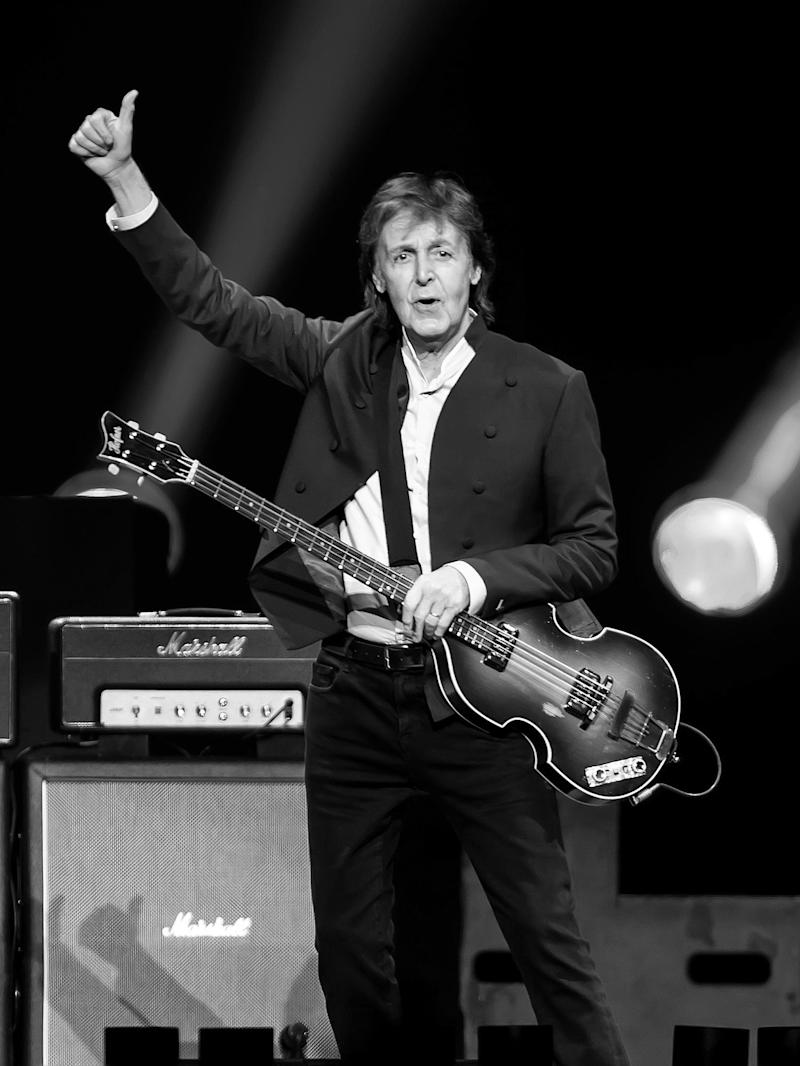 Sir Paul McCartney performs during U.S. 'Out There' tour at Wells Fargo Center on June 21, 2015 in Philadelphia, Pennsylvania.