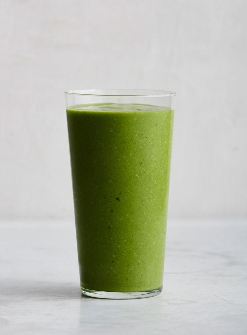 """Sub spinach for kale if you like. <a href=""""https://www.bonappetit.com/recipe/avocado-kale-pineapple-and-coconut-smoothie?mbid=synd_yahoo_rss"""" rel=""""nofollow noopener"""" target=""""_blank"""" data-ylk=""""slk:See recipe."""" class=""""link rapid-noclick-resp"""">See recipe.</a>"""