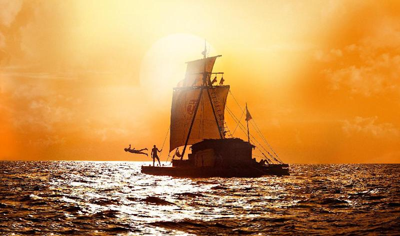 """This film image released by The Weinstein Company shows a scene from """"Kon Tiki."""" (AP Photo/The Weinstein Company)"""