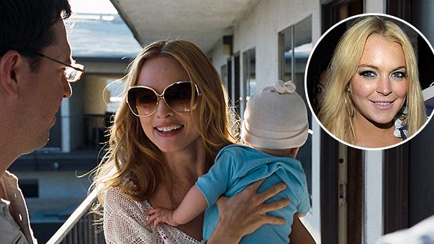 Lindsay Lohan (inset), Heather Graham in 'The Hangover'