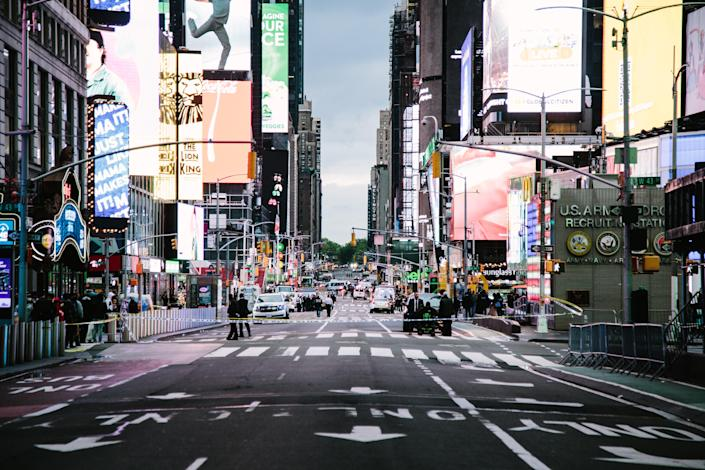 <p>Three bystanders were injured in Times Square shooting on Saturday</p> (EPA)