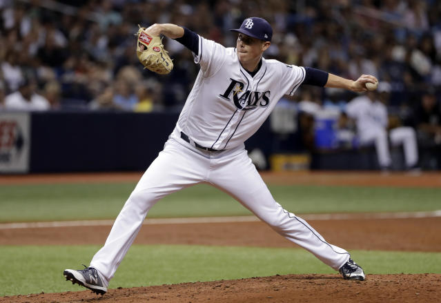 Tampa Bay Rays pitcher Ryan Yarbrough delivers during the third inning of a baseball game against the New York Yankees, Friday, June 22, 2018, in St. Petersburg, Fla. (AP Photo/Chris O'Meara)