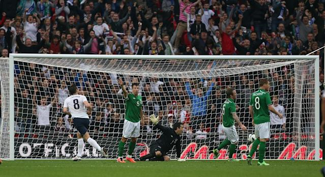 <p>4 Frank Lampard<br> Age: 34 years 343 days<br> Scored against Ireland 2013 </p>