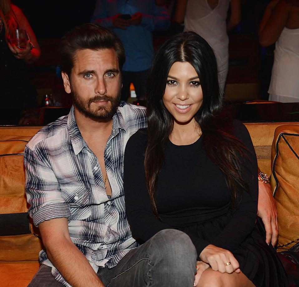 Scott Disick with ex-girlfriend Kourtney Kardashian (Getty Images)