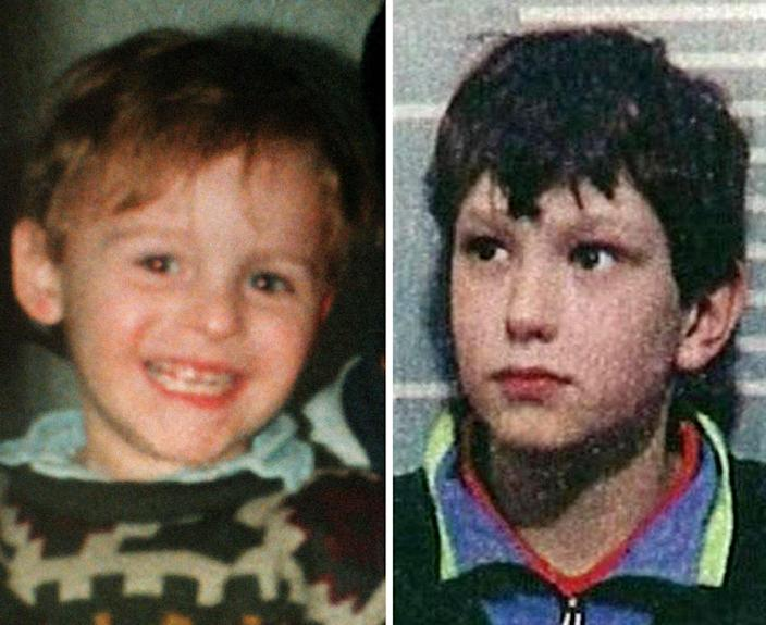 James Bulger (left) and one of his murderers Jon Venables. (PA)