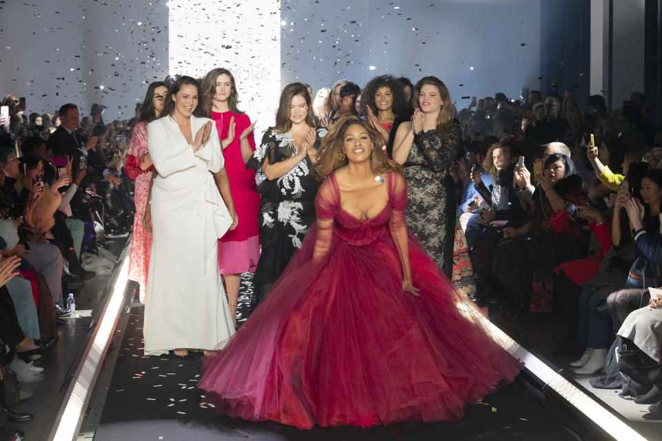 Laverne Cox joined other models on the 11 Honoré runway. (Photo: Lev Radin/Pacific Press/LightRocket via Getty Images)