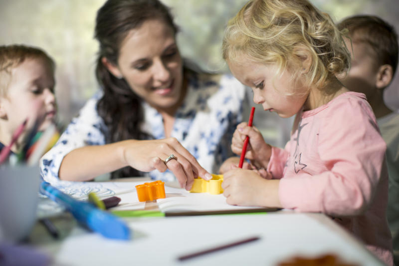 Parents are forking out more for childcare (Getty)