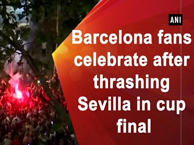 Barcelona fans spilled out on streets on April 21 to celebrate Barcelona's historic victory. The team clinched Copa del Rey trophy by winning against Sevilla. Dancing around and lighting flares, the fans sang into the night as they heaped praise on their team's performance. The unstoppable duo of Andres Iniesta and Lionel Messi bagged a goal each with a Philippe Coutinho penalty adding to a Luis Suarez brace.
