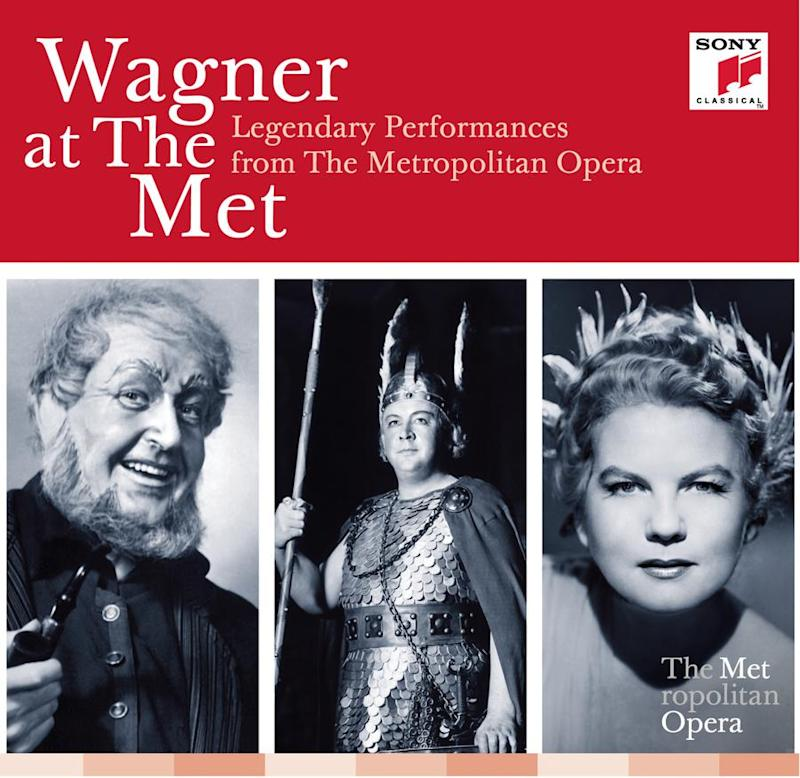 """This CD cover image released by Sony Classical shows """"Wagner at the Met: Legendary Performances from The Metropolitan Opera,"""" performed by various artists. (AP Photo/Sony Classical)"""