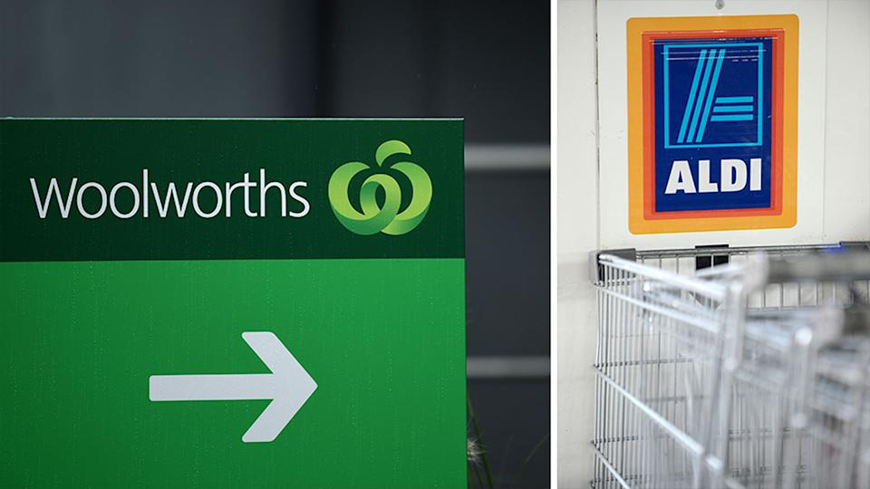 Both Woolworths and Aldi declined to comment on how the Woolies Frankfurts ended up in Aldi. Source: AAP