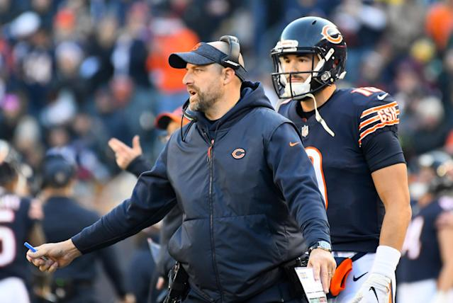 First-season head coach Matt Nagy and QB Mitch Trubisky have taken the Bears to the NFC North title