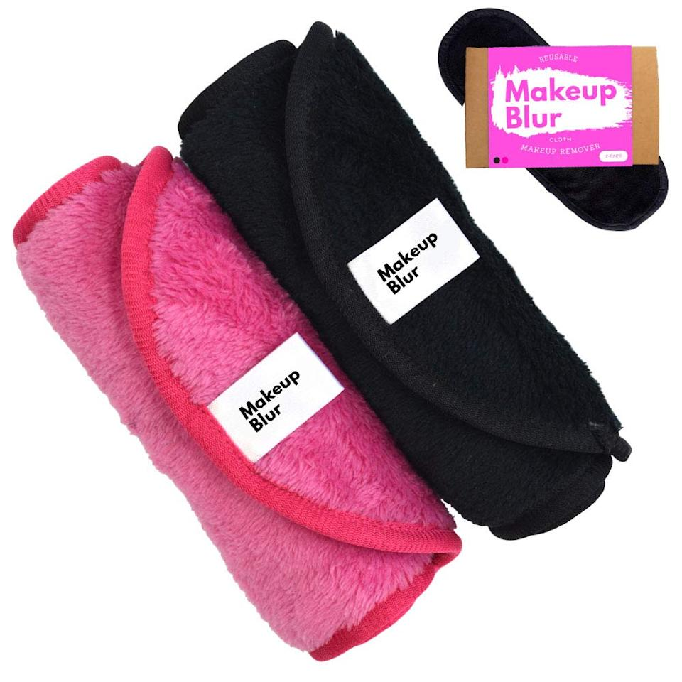 "<h2>Reusable Makeup Remover Cloth Set</h2><br>Sustainability is IN — and what better way to test out the lifelong trend than with a pack of reusable makeup cloths that <em>actually</em> work?<br><br><strong>makeup blur</strong> Reusable Makeup Remover Cloth Set, $, available at <a href=""https://www.amazon.com/dp/B07Q7TGJX6/ref=sspa_dk_detail_3?"" rel=""nofollow noopener"" target=""_blank"" data-ylk=""slk:Amazon"" class=""link rapid-noclick-resp"">Amazon</a>"