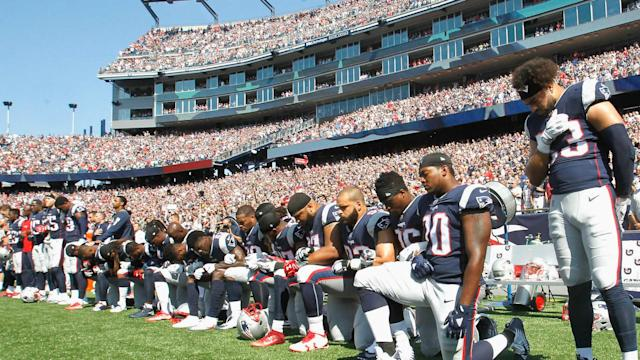 The Steelers remained in the locker room during the national anthem, an unprecedented move on an unprecedented day of protest in the NFL.