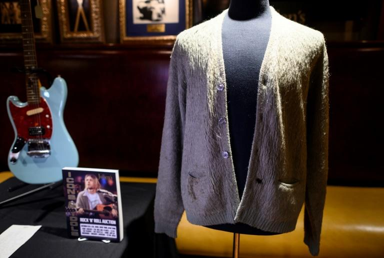 Kurt Cobain's cardigan from Nirvana's 1993 MTV Unplugged performance  sold for $334,000