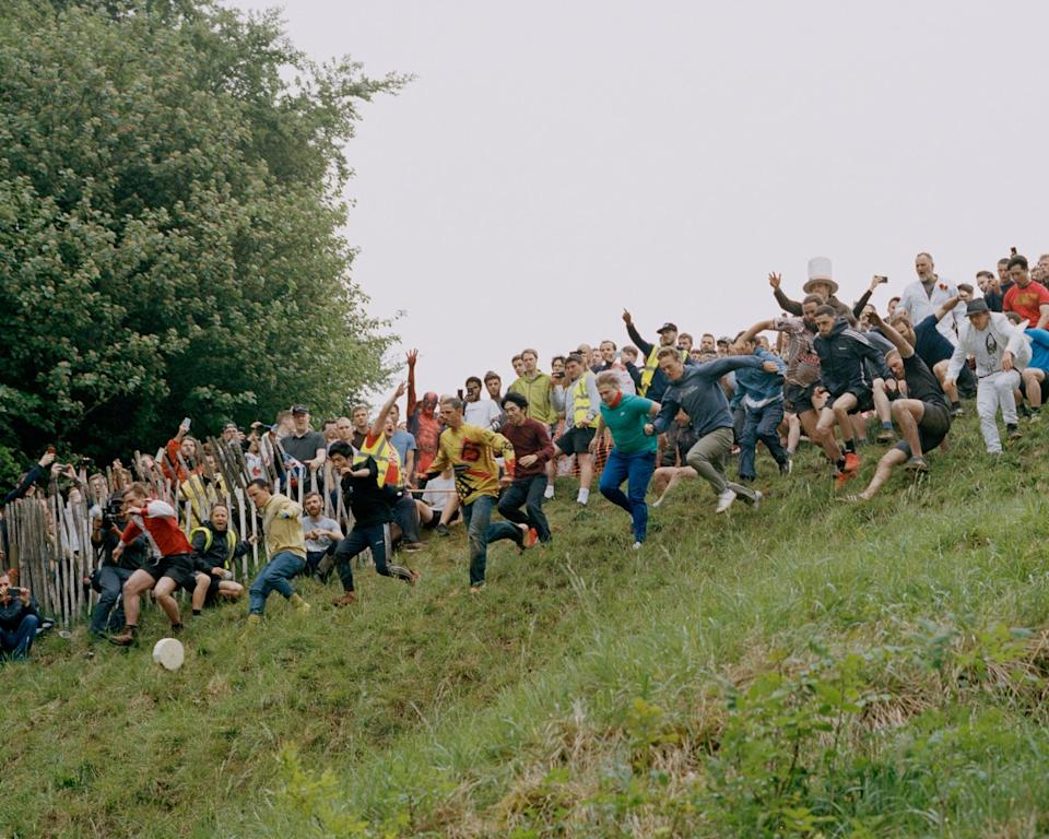 Cheese rolling on Cooper's Hill in Gloucestershire (Orlando Gili)
