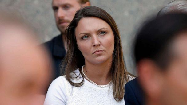 PHOTO: Courtney Wild, one of Jeffrey Epstein's accusers who spoke at his bail hearing, attends a news conference outside federal court, in N.Y., July 15, 2019. (Richard Drew/AP, FILE)