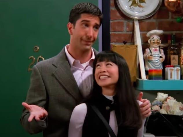 ross and julie on friends
