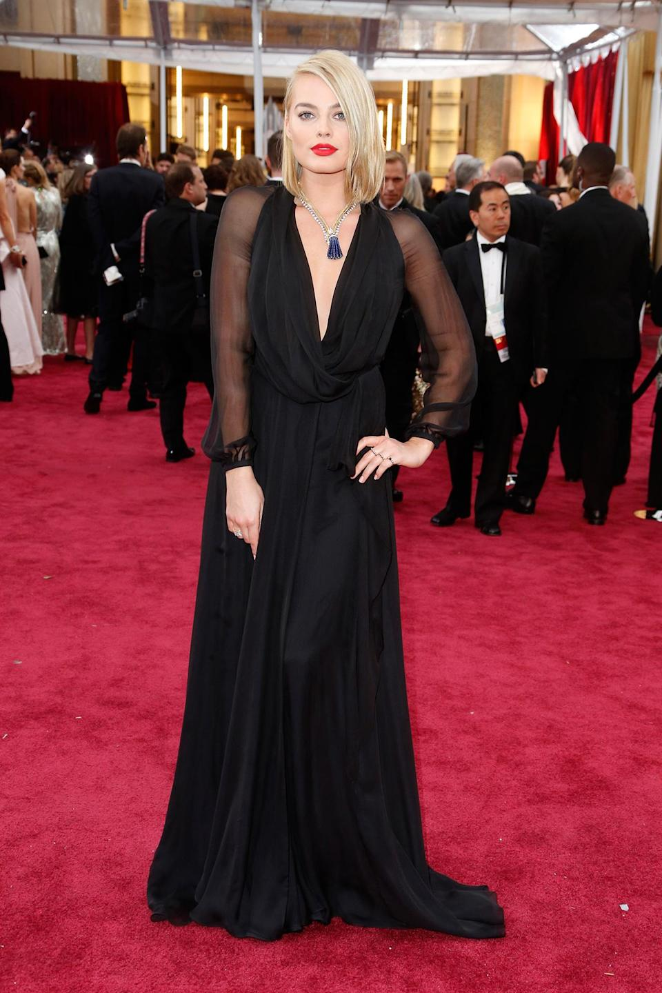 <h2>In Saint Laurent</h2> <p>At the Academy Awards in Los Angeles, 2015</p> <h4>Getty Images</h4>