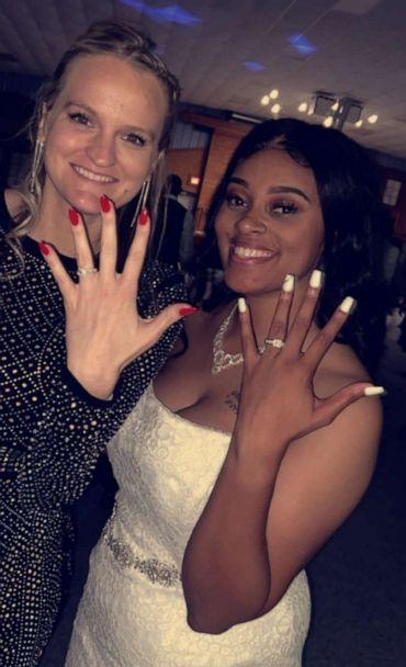 PHOTO: McGinty-Rush and Baylee Gillmore show off their rings. (McGinty-Rush Family)