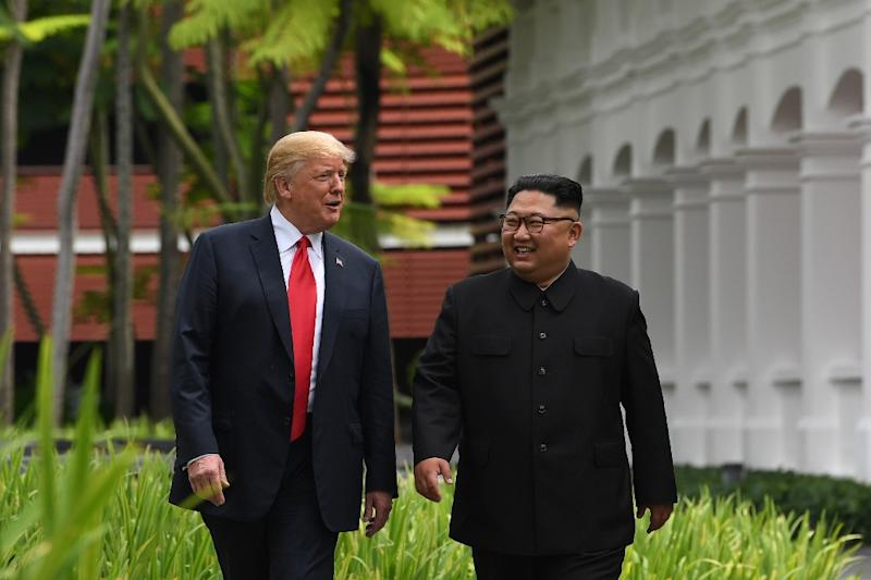 Trump has claimed his June 12 meeting with North Korea's Kim Jong Un resolved the old foes' nuclear stand-off (AFP Photo/SAUL LOEB)
