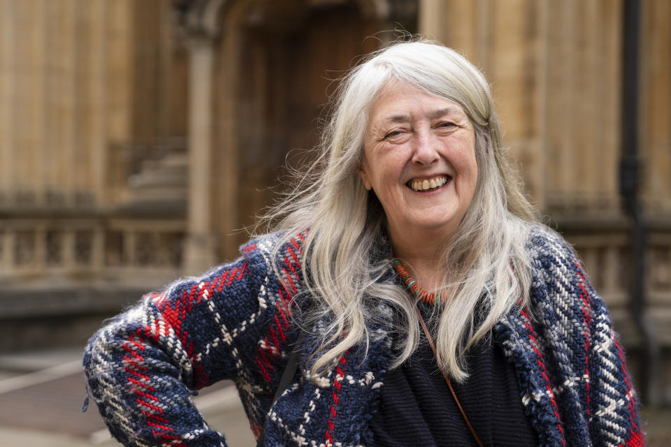 Mary Beard, writer and feminist, at the Oxford Literary Festival 2019 on April 3, 2019 in Oxford, England. (Photo by David Levenson/Getty Images)