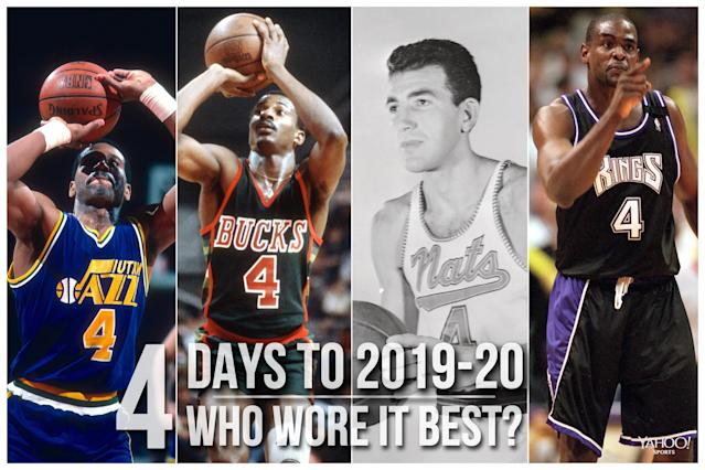 Which NBA player wore No. 4 best?