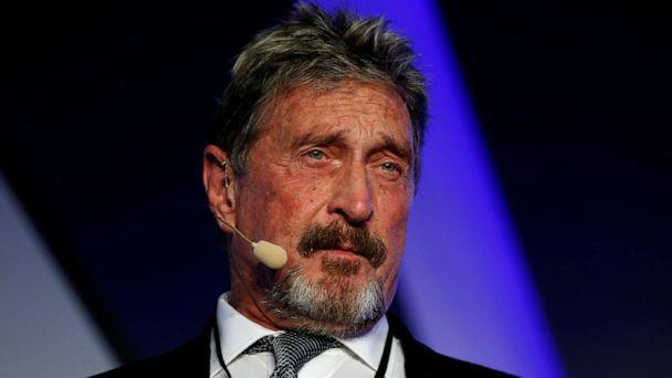 PHOTO: John McAfee, co-founder of McAfee Crypto Team and founder of McAfee Antivirus, speaks at the Malta Blockchain Summit in St. Julian's, Malta, in this Nov. 1, 2018, file photo. (Darrin Zammit Lupi/Reuters)