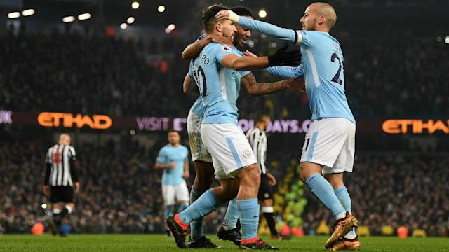 Sergio Aguero scored three as Manchester City returned to winning ways against Newcastle United, but they were by no means at their best.