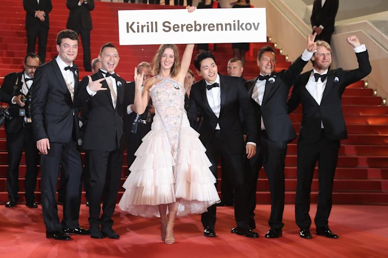 Russian and European actors have staged multiple campaigns calling for Serebrennikov's release (AFP Photo/Valery HACHE)