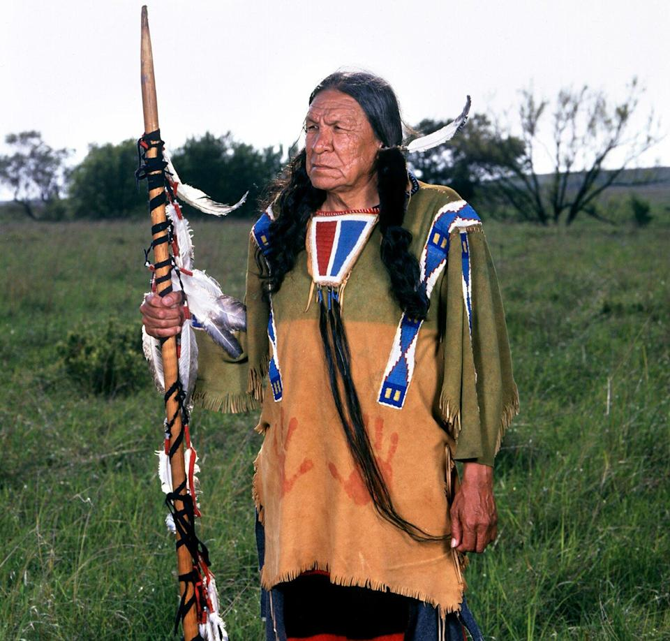 Saginaw Grant (as Chief Luta) in the made for television movie, STOLEN WOMEN, CAPTURED HEARTS.
