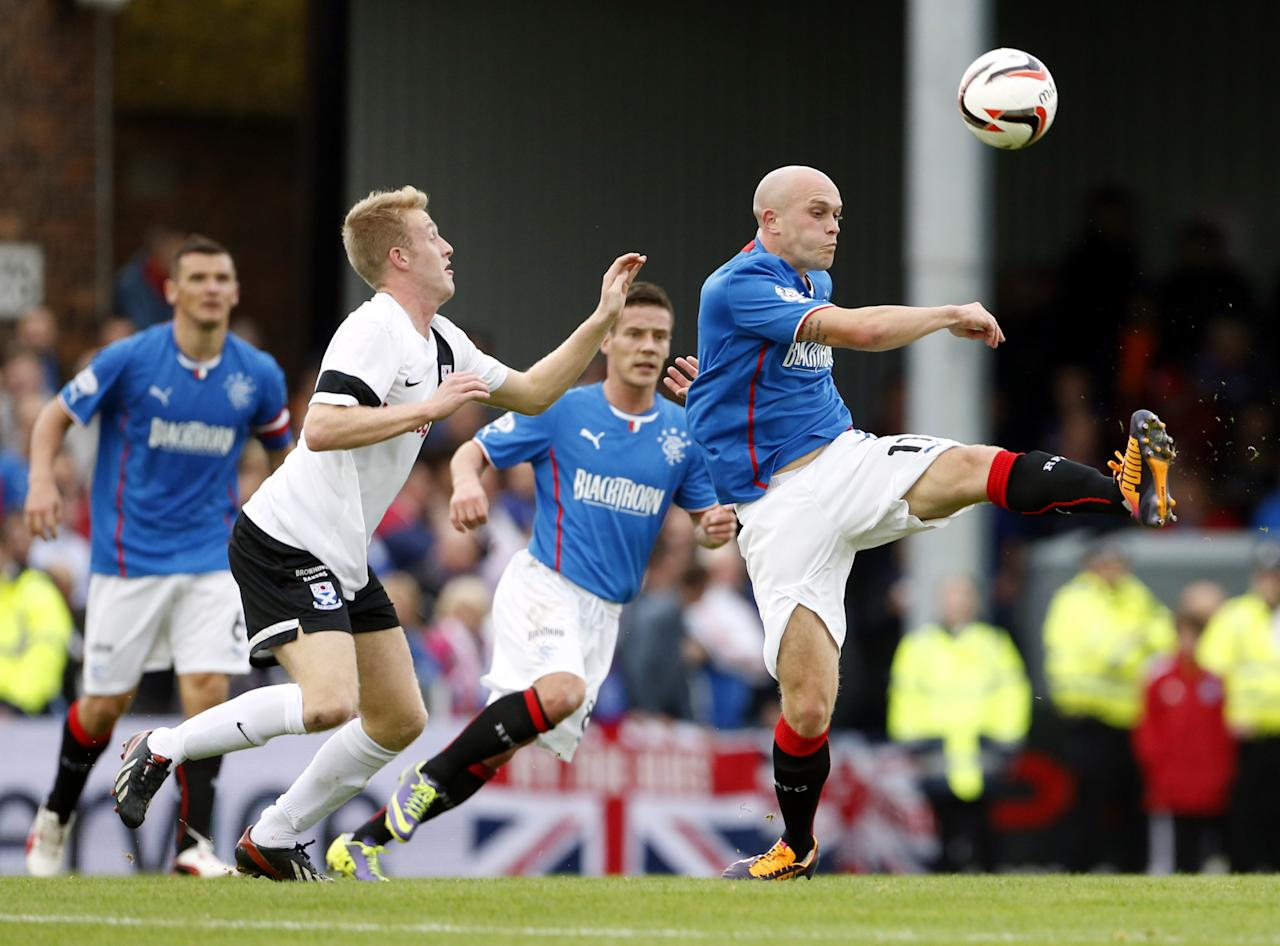 Rangers' Nicky Law on the ball during the Scottish League One match at Somerset Park, Ayr.