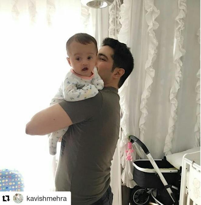 <p>Karan Mehra and Nisha Rawal became first time parents this June and Karan is already struggling to keep the little one in his arms. And he's getting heavier day by day, he captions this pic on his Instagram account. </p>