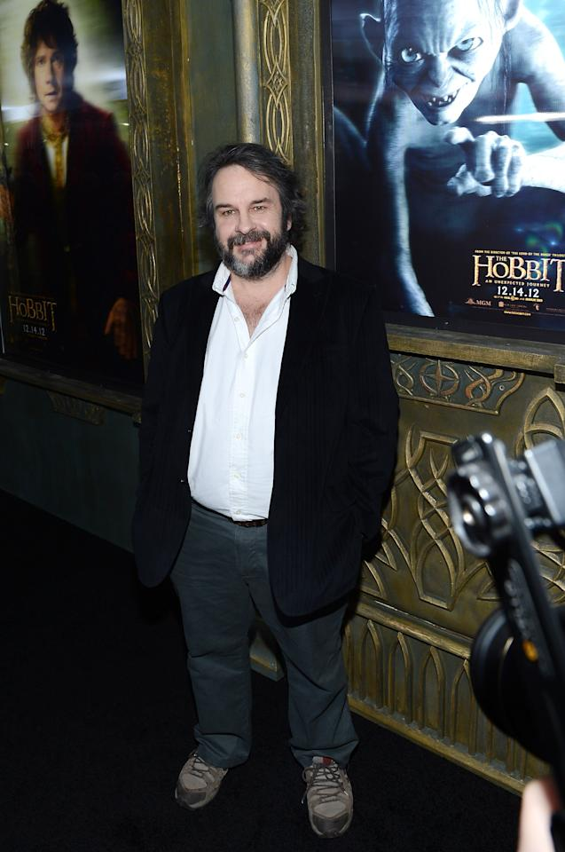 "NEW YORK, NY - DECEMBER 06:  Sir Peter Jackson attends ""The Hobbit: An Unexpected Journey"" New York premiere benefiting AFI at Ziegfeld Theater on December 6, 2012 in New York City.  (Photo by Andrew H. Walker/Getty Images)"