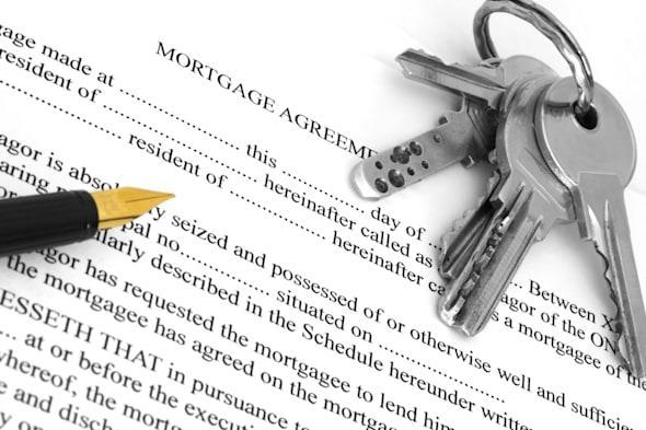 mortgage agreement with pen and ...