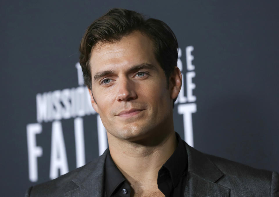 """FILE - In this July 22, 2018 file photo, actor Henry Cavill attends the U.S. premiere of """"Mission: Impossible - Fallout"""" in Washington. A person familiar with Warner Bros.' plans for its DC Comics films says there are no current prospects for another """"Superman"""" film starring Cavill. (Photo by Brent N. Clarke/Invision/AP, File)"""