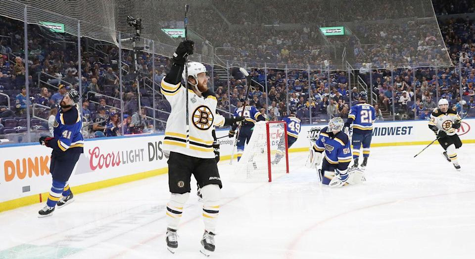 Easy pickings for the Boston Bruins in Game 3 of the Stanley Cup Final. (Getty)