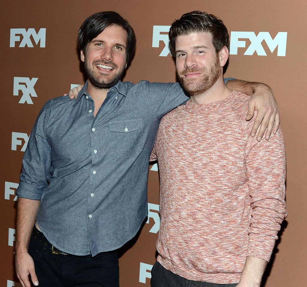 Jon Lajoie and Stephen Rannazzisi attend the 2013 FX Upfront Bowling Event at Luxe at Lucky Strike Lanes on March 28, 2013 in New York City.