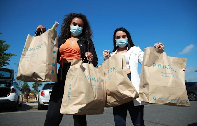 People were keen to get their shopping fix this morning. (Getty Images)