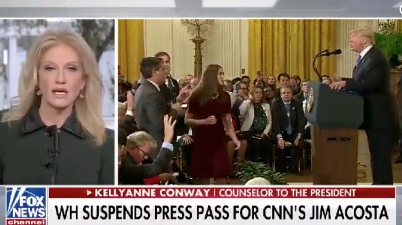 Kellyanne Conway Defends White House Mic Grab, Says Women Shouldn't Be 'Swiped' At