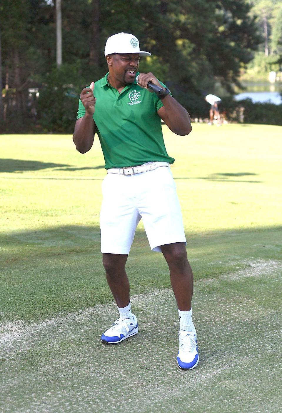 <p>Chris Tucker attends his Celebrity Golf Tournament at Stone Mountain Golf Club in August 2019. </p>