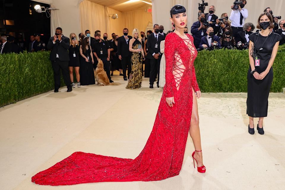 """<h1 class=""""title"""">Megan Fox, The 2021 Met Gala Celebrating In America: A Lexicon Of Fashion - Arrivals</h1><cite class=""""credit"""">Getty</cite>"""
